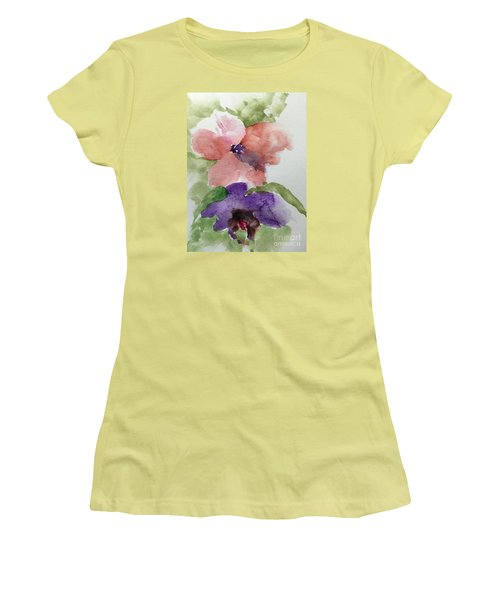Women's T-Shirt (Junior Cut) featuring the painting Deep Within by Trilby Cole