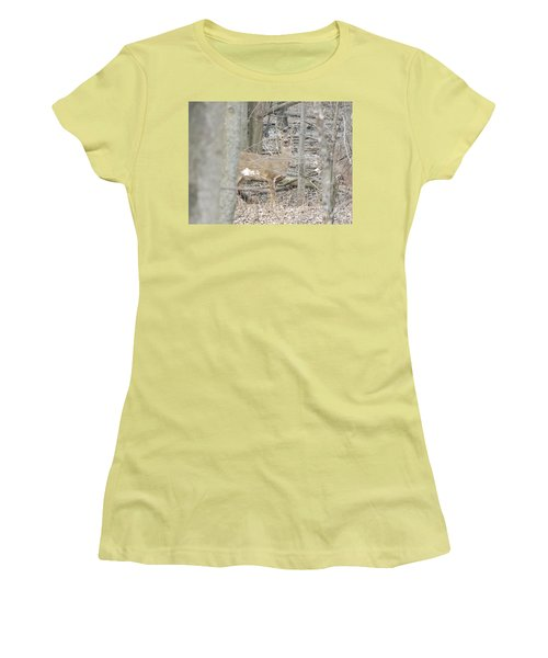 Deer Keeping Watch Women's T-Shirt (Junior Cut) by Erick Schmidt