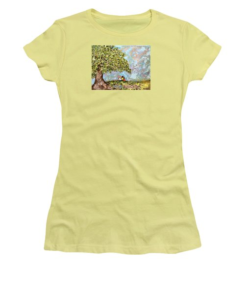 Defend The Fatherless Women's T-Shirt (Junior Cut) by Kirsten Reed