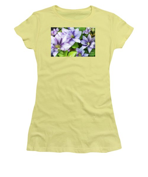 Delicate Climbing Clematis  Women's T-Shirt (Athletic Fit)