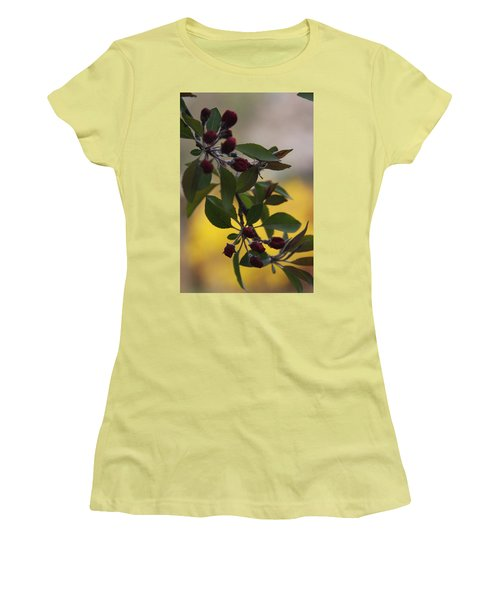Delicate Crabapple Blossoms Women's T-Shirt (Junior Cut) by Vadim Levin