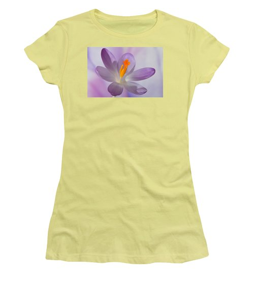 Delicate Spring Crocus. Women's T-Shirt (Athletic Fit)