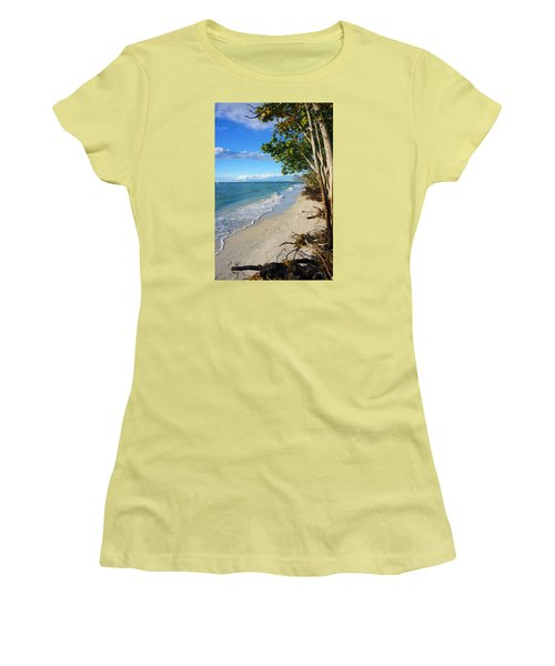 Delnor Wiggins Pass State Park Women's T-Shirt (Junior Cut) by Robb Stan