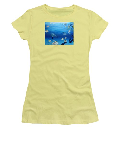 Delphinus Women's T-Shirt (Athletic Fit)