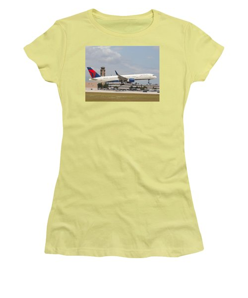 Delta Airline Women's T-Shirt (Athletic Fit)