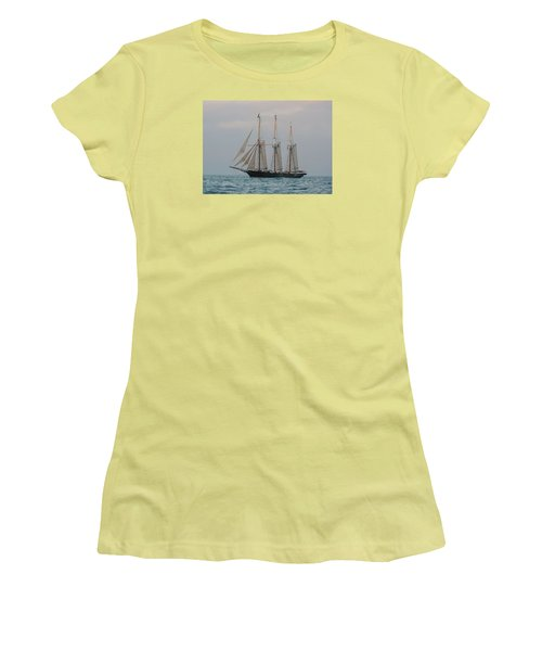 Denis Sullivan Out On An Evening Sail Women's T-Shirt (Athletic Fit)