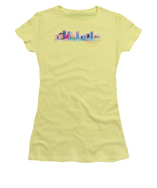 Denver Colorado Skyline Tshirts And Accessories Women's T-Shirt (Junior Cut) by Loretta Luglio