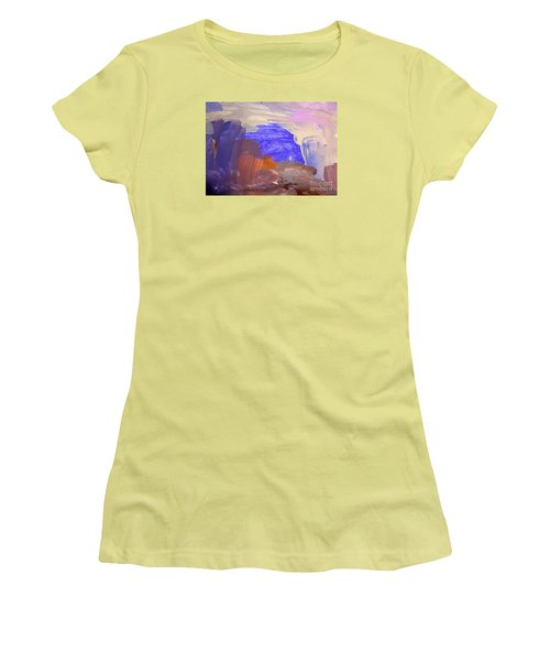 Women's T-Shirt (Junior Cut) featuring the painting Desert By Hannah by Fred Wilson