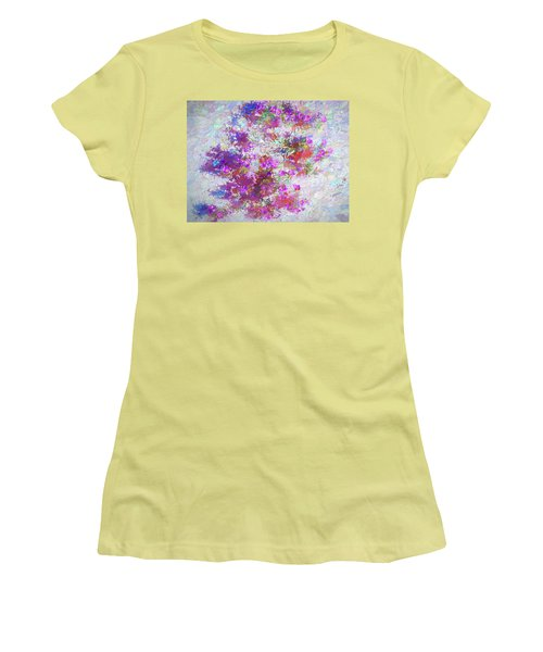 Desert Flowers Abstract 3 Women's T-Shirt (Athletic Fit)