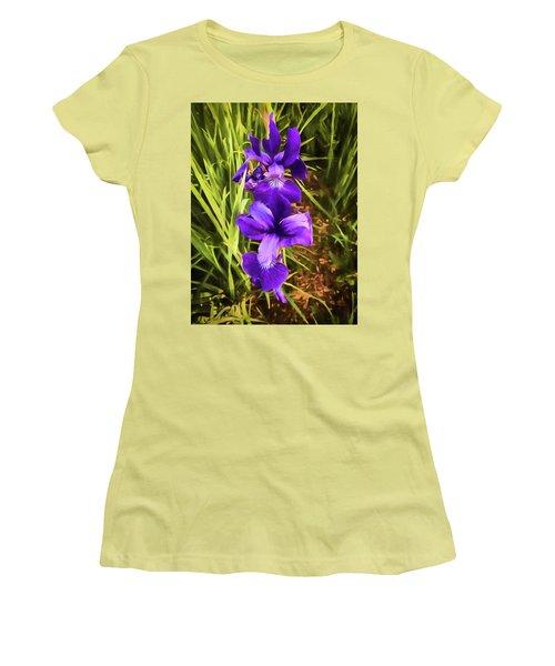 Women's T-Shirt (Junior Cut) featuring the photograph Desert Iris by Penny Lisowski