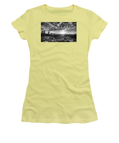 Desert Sunrise Women's T-Shirt (Junior Cut) by Monte Stevens