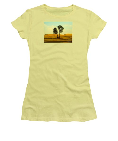 Desert Trees Women's T-Shirt (Athletic Fit)