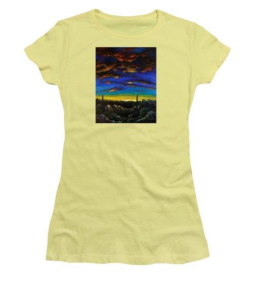 Desert View Women's T-Shirt (Junior Cut) by Lance Headlee