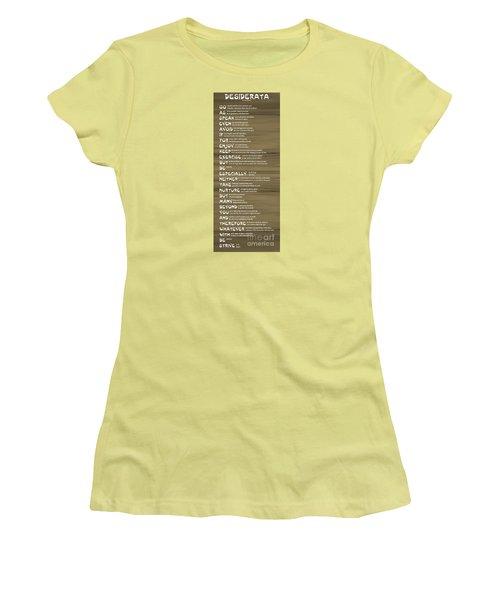 Desiderata 17 Women's T-Shirt (Junior Cut) by Wendy Wilton