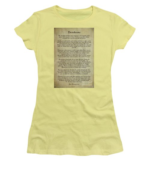 Desiderata Women's T-Shirt (Junior Cut) by Olga Hamilton