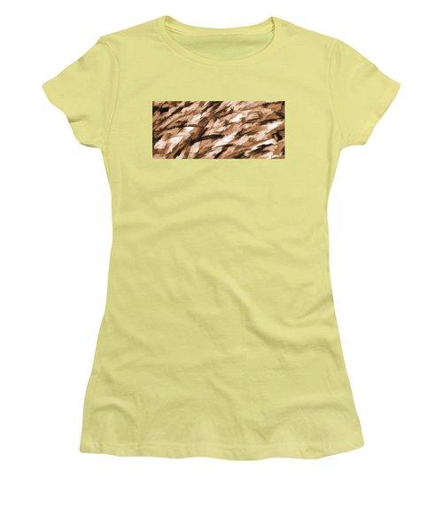 Designer Camo In Beige Women's T-Shirt (Junior Cut) by Bruce Stanfield