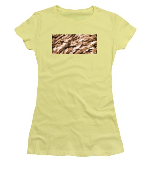 Designer Camo In Beige Women's T-Shirt (Athletic Fit)