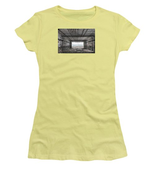 Detroit Packard Plant  Women's T-Shirt (Junior Cut) by John McGraw