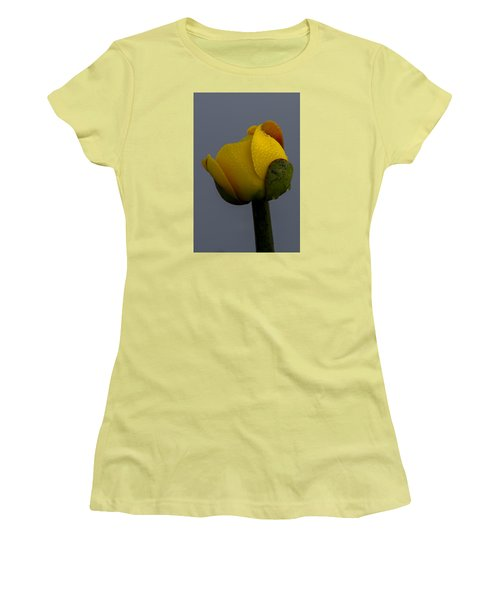Dew Covered Yellow Water Lily Women's T-Shirt (Athletic Fit)