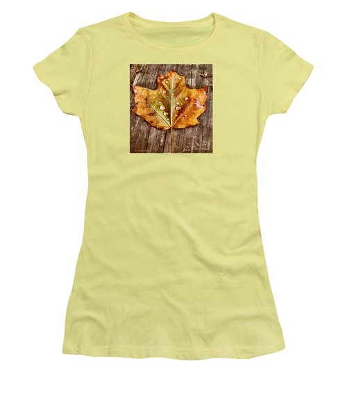 Women's T-Shirt (Junior Cut) featuring the photograph Dew Diligence by Heather King