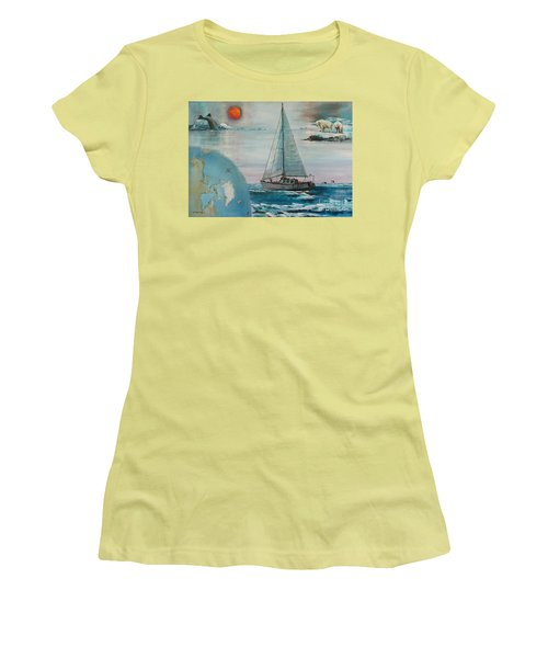 Ireland Canada Links..'' Northabout '' Rounding The North West Passage Women's T-Shirt (Athletic Fit)