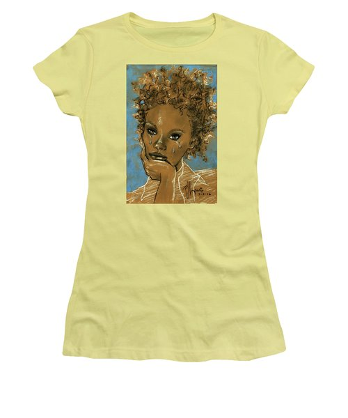 Women's T-Shirt (Junior Cut) featuring the drawing Diamond's Daughter by P J Lewis