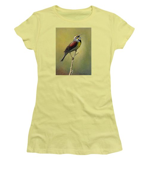Dickcissel Summer Song Women's T-Shirt (Athletic Fit)