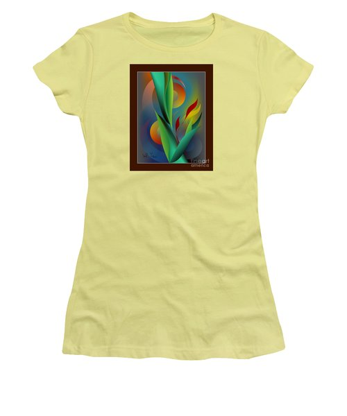Digital Garden Dreaming Women's T-Shirt (Junior Cut) by Leo Symon