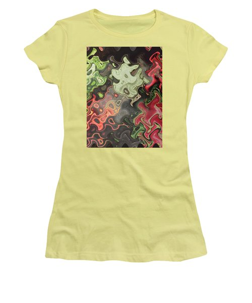 Women's T-Shirt (Athletic Fit) featuring the digital art Digital Graphics Waves Made Of Veggie Salad Kitchen Cuisine Chef Christmas Holidays Birthday Mom Dad by Navin Joshi