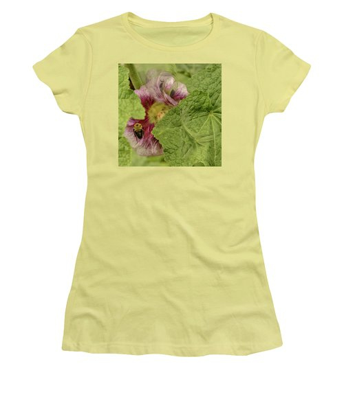Dimensions Of Bees_flowers Women's T-Shirt (Athletic Fit)