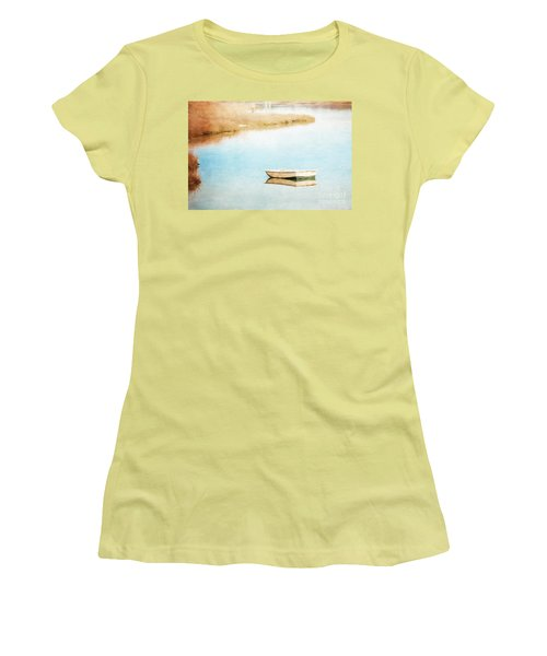 Dinghy In Eastham Women's T-Shirt (Athletic Fit)