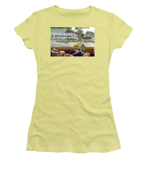 Dining Aboard The Miss Lotta Women's T-Shirt (Junior Cut) by Maureen E Ritter