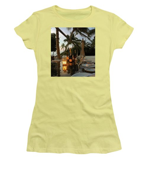 Dinner At The Beach Women's T-Shirt (Athletic Fit)