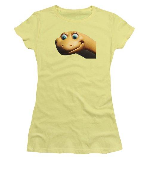 Dino Women's T-Shirt (Junior Cut) by Debbie Oppermann