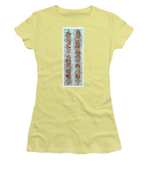 Diptych Air Castles Women's T-Shirt (Athletic Fit)