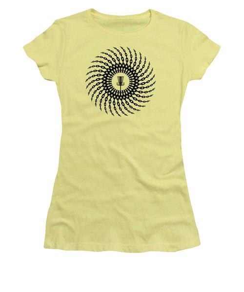 Disc Golf Basket Chains Women's T-Shirt (Junior Cut) by Phil Perkins