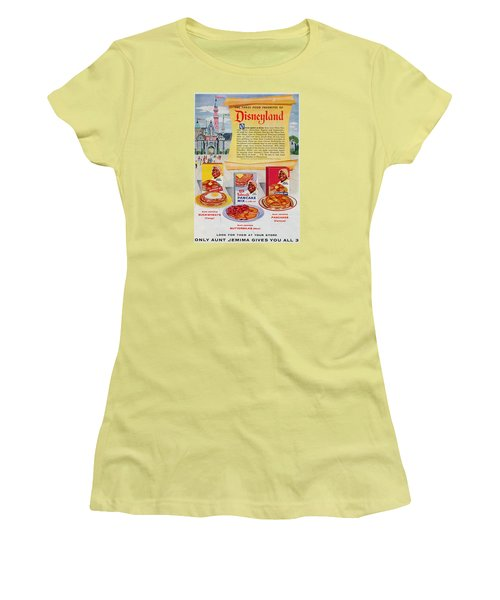 Disneyland And Aunt Jemima Pancakes  Women's T-Shirt (Athletic Fit)