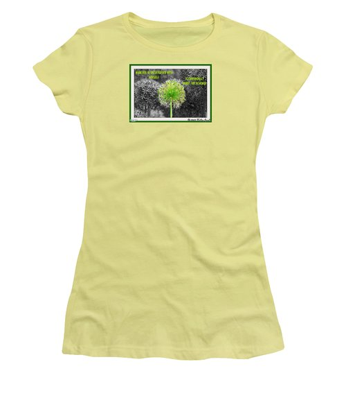 Dissatisfied With Himself Women's T-Shirt (Junior Cut) by Holley Jacobs
