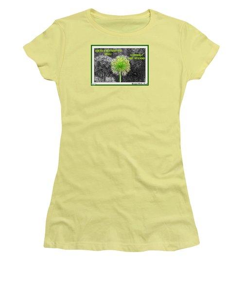 Dissatisfied With Himself Women's T-Shirt (Junior Cut)