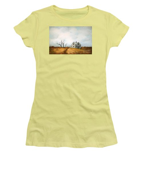 Women's T-Shirt (Junior Cut) featuring the painting Distant by Inese Poga