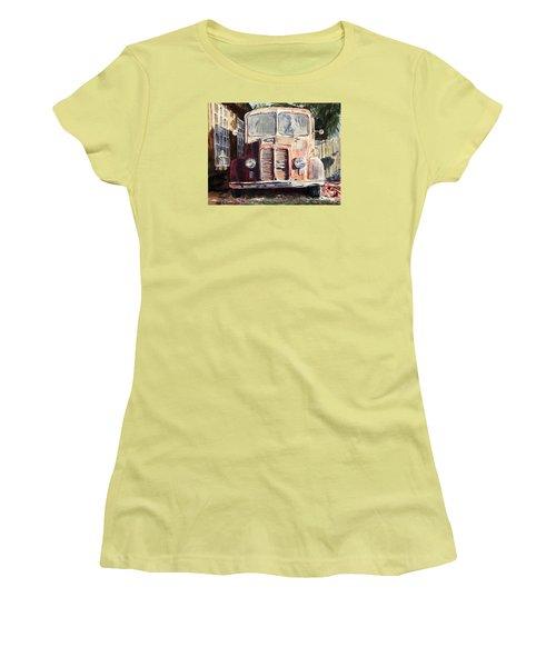 Divco Truck Women's T-Shirt (Junior Cut) by Joey Agbayani