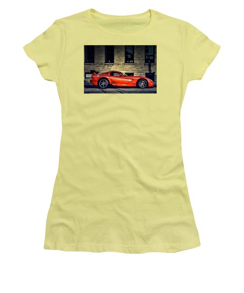 Women's T-Shirt (Junior Cut) featuring the photograph Dodge Viper by Joel Witmeyer