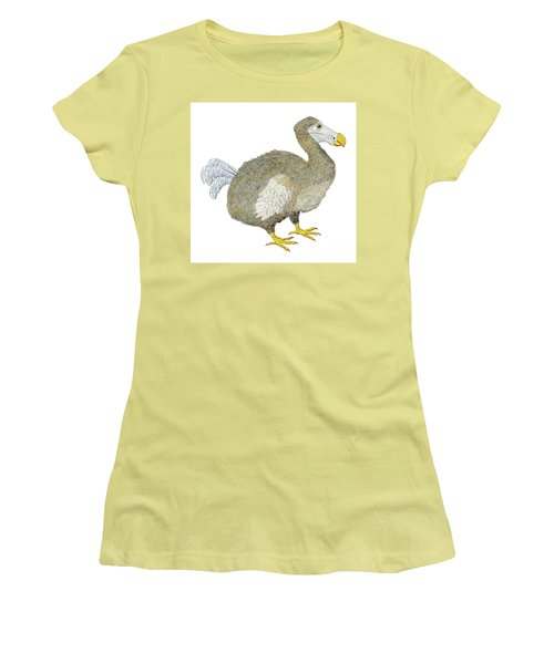 Women's T-Shirt (Junior Cut) featuring the painting Dodo Bird Protrait by Thom Glace