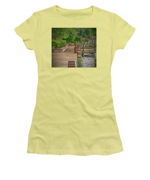 Down By The Boardwalk Women's T-Shirt (Athletic Fit)