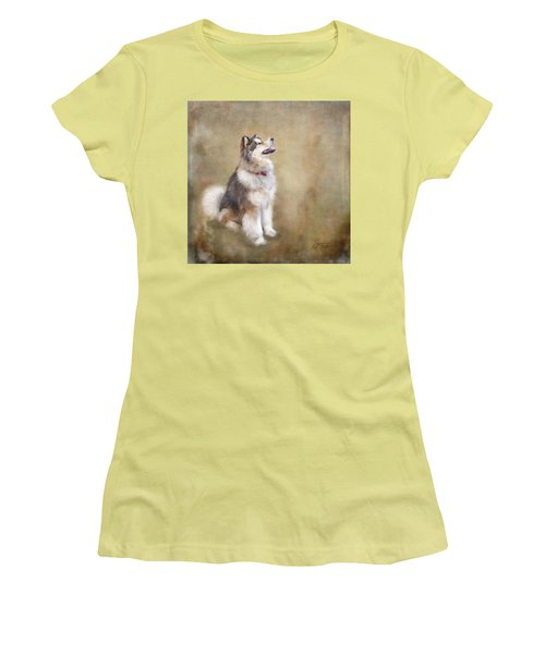 Women's T-Shirt (Junior Cut) featuring the digital art Master Of The Domain by Colleen Taylor