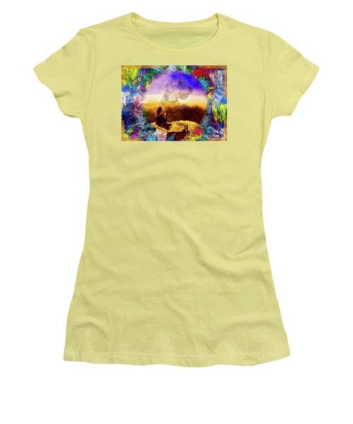 Dog Heaven Women's T-Shirt (Junior Cut) by Ted Azriel