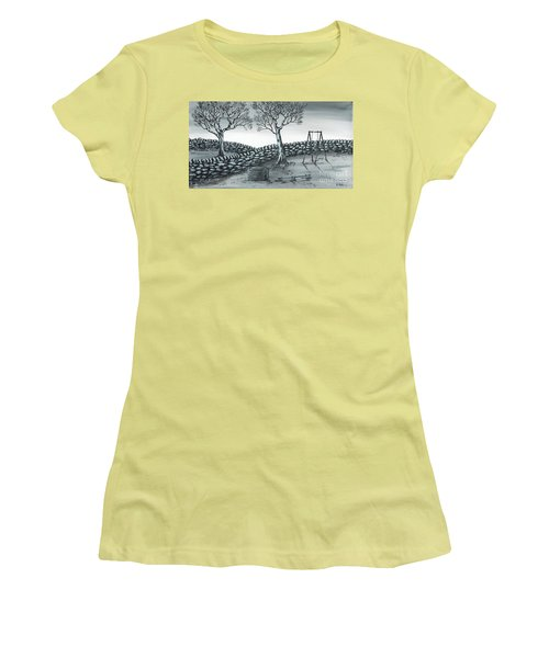Women's T-Shirt (Junior Cut) featuring the painting Dog House by Kenneth Clarke