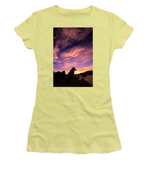 Dogs Dream Too Women's T-Shirt (Junior Cut) by Sean Sarsfield