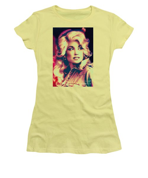 Dolly Parton - Vintage Painting Women's T-Shirt (Junior Cut) by Ian Gledhill