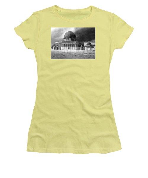 Dome Of The Rock - Jerusalem Women's T-Shirt (Junior Cut) by Munir Alawi